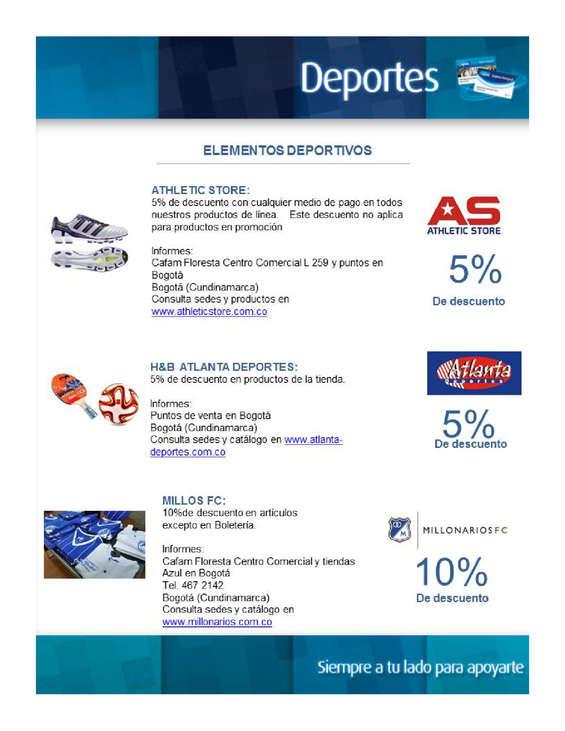 Ofertas de Droguerías Cafam, Convenios en Deportes.pdf