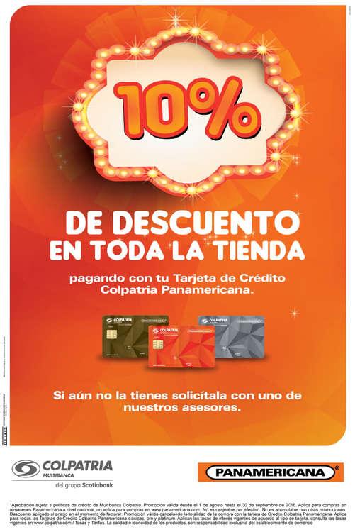 Ofertas de Librería Panamericana, Tarjeta de crédito Colpatria Panamericana.