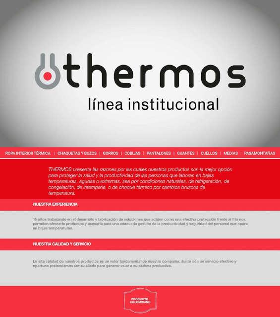 Ofertas de Thermos, Linea Institucional