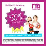 Ofertas de Mothercare, 50% de descuento en toda la tienda de Viva Laureles