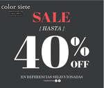 Ofertas de Color Siete, SALE - Hasta 40% de descuento en referencias seleccionadas