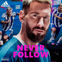 Never Follow. Blue Blast Messi 16