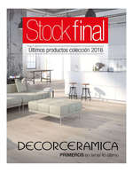 Ofertas de Decorceramica, Stock Final 2016