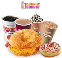 Menú Dunkin' Donuts
