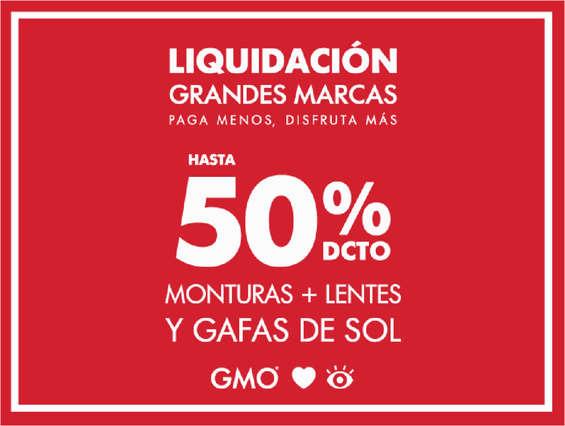 Ofertas de Óptica GMO, Liquidación de grandes marcas - Hasta 50% de descuento