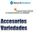 Ofertas de Banco de Occidente, Programa Puntos Credencial