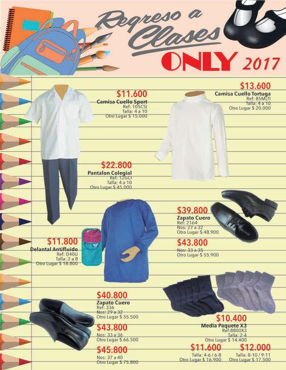 Ofertas de Almacenes Only, Catálogo - Regreso a clases 2017