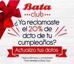 Ofertas de Bata, 20% de descuento en el  mes de tu cumpleaños