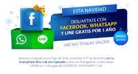 Deslimítate con Facebook, Whatsapp y Line gratis por 1 año ¡Así no tengas saldo!