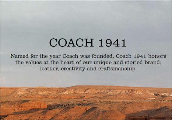 Ofertas de Coach, Coach 1941