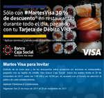 Ofertas de Banco Caja Social, Martes Visa para invitar