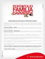 Ofertas de Davivienda, Portafolio Familia Davivienda