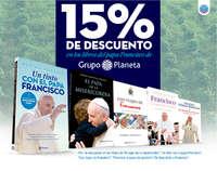 15% de descuento en los libros del papa Francisco de Grupo Planeta