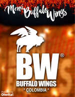 Ofertas de Buffalo Wings, Menú