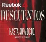 Ofertas de Reebok, Descuentos hasta el 40%dcto