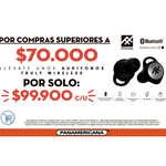 Ofertas de Librería Panamericana, Audífonos Bluetooth En Promoción