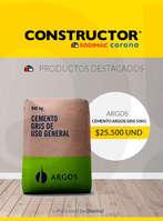 Ofertas de Constructor, Cemento