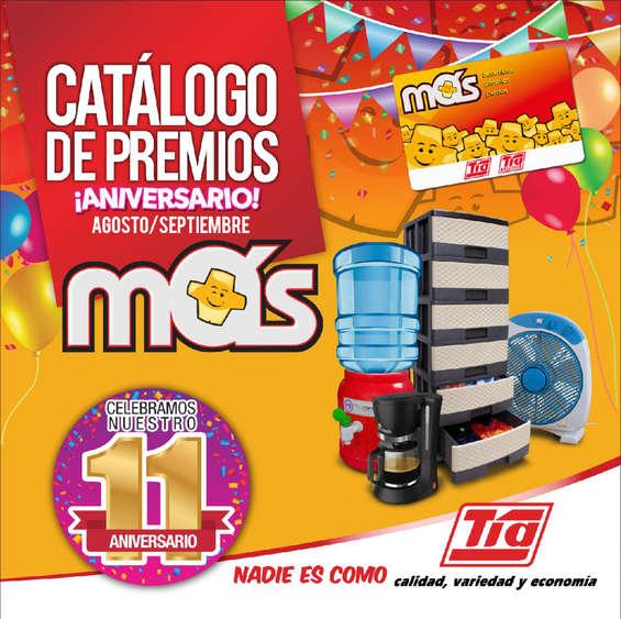 Ofertas de Almacenes Tía, Catálogo de premios ¡Aniversario!