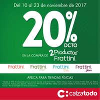 20%dcto en la compra de 2 productos Frattini