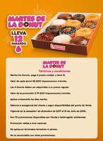 Ofertas de Dunkin' Donuts, Martes de lleva 6 paga 12