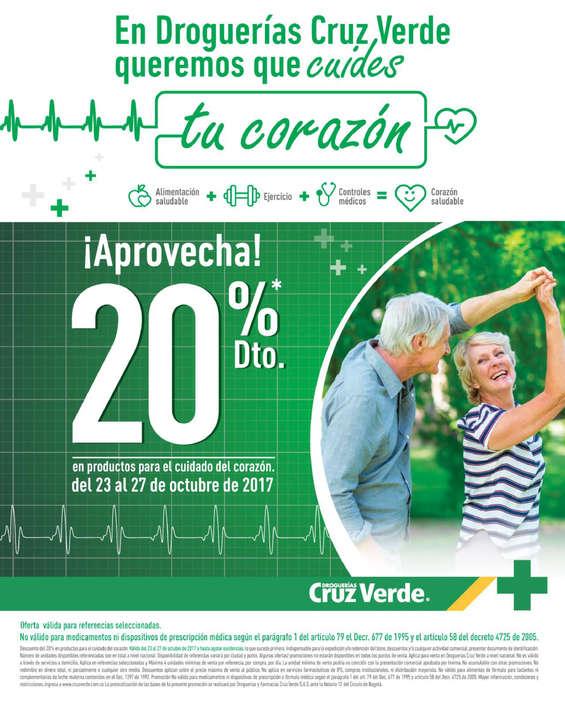 Ofertas de Cruz Verde, ¡Aprovecha! 20% de descuento en productos para el cuidado del corazón