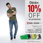 Ofertas de Big John Wear, Obtén 10%Off en productos Big John - Pagando con tus tarjetas débito y crédito del Banco Popular