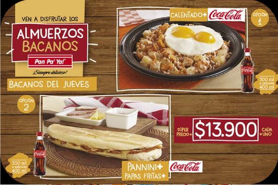 Ofertas de Pan Pa' Ya, Almuerzos Bacanos