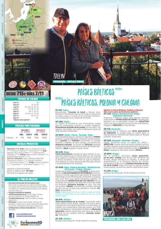 Ofertas de Europamundo, Circuitos por Europa Nórdica