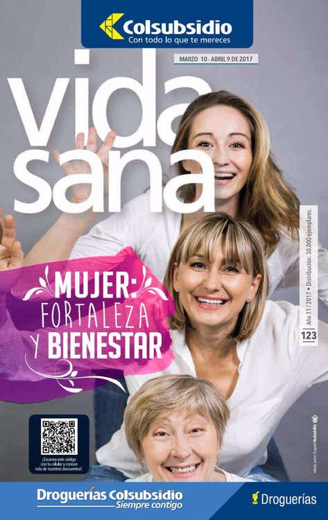 Ofertas de Droguería Colsubsidio, Revista Vida Sana Ed. 123 - Mujer, fortaleza y bienestar