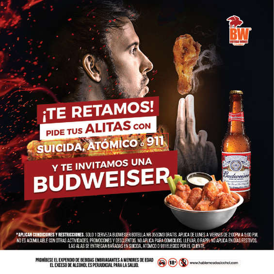 Ofertas de Buffalo Wings, Buffalo Wings te reta!