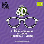 Ofertas de Óptica Colombiana, La ola verde - Hasta 60%dcto + 10% adicional si llevas monturas + lentes