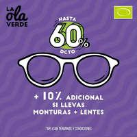 La ola verde - Hasta 60%dcto + 10% adicional si llevas monturas + lentes
