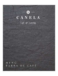 Menú Barra de Café