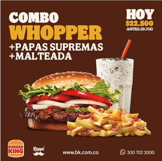 Ofertas de Burger King, Whopper king