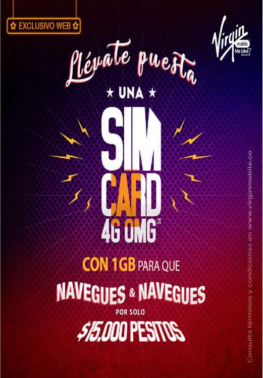 Ofertas de Virgin Mobile, Llévate puesta una SIM card 4g omg