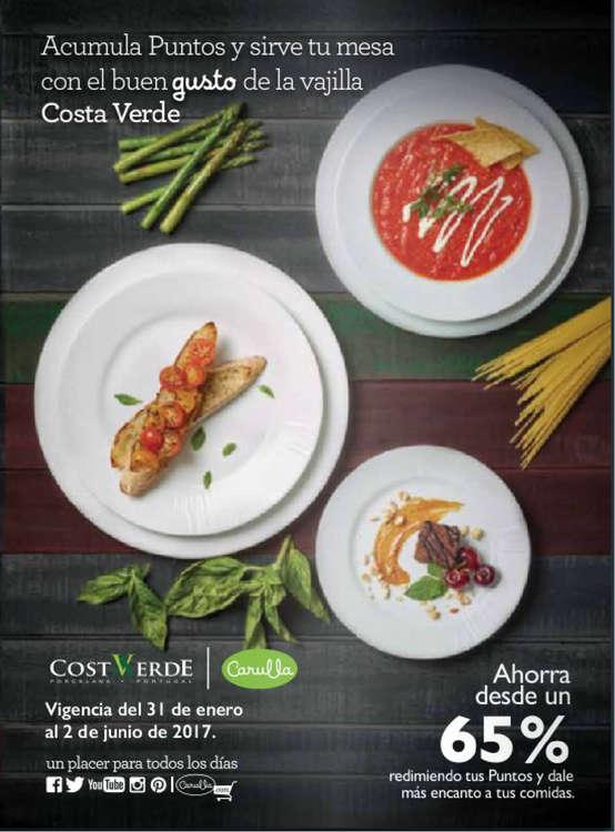 Ofertas de Carulla, Catálogo - Vajillas Costa Verde