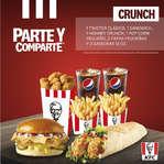 Ofertas de KFC, Parte y Comparte Crunch