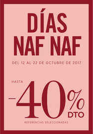 Días Naf Naf - Hasta 40%DTO