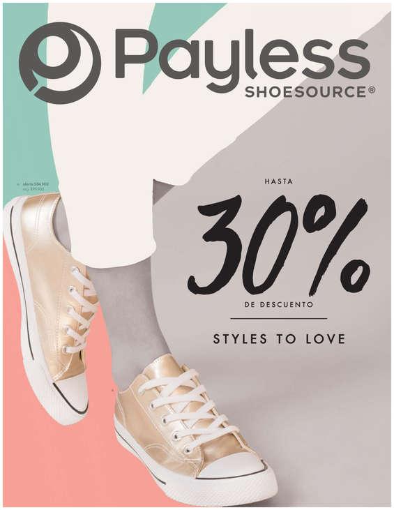 Ofertas de Payless, Catálogo Styles to Love. Hasta 30% de descuento - Medellín